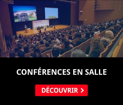 Conférences en personne - amphithéâtres et espaces culturels
